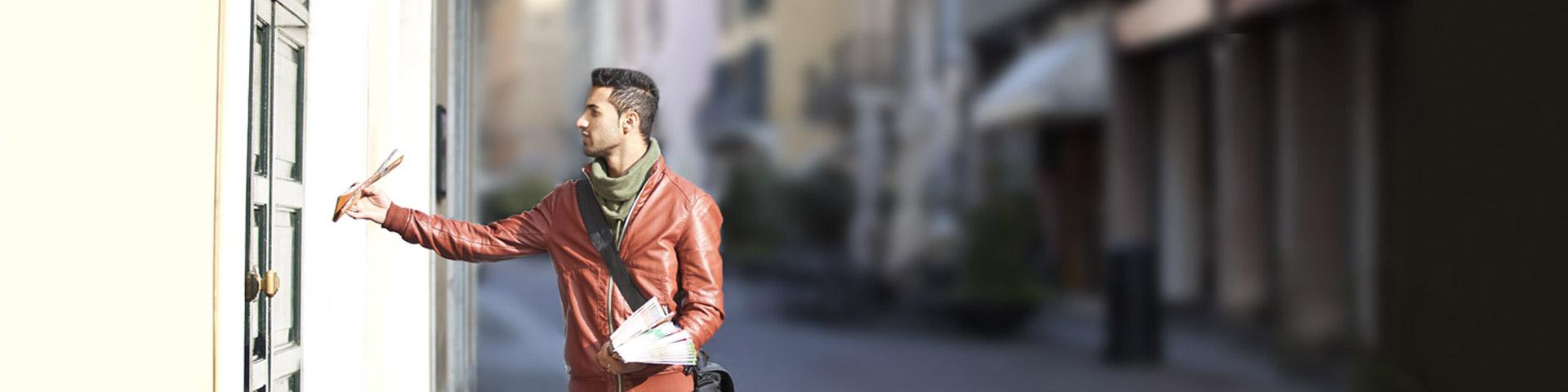 Distribuzione di volantini e materiale pubblicitario su Brescia, in Lombardia e Nord Italia